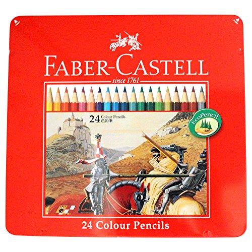ファーバーカステル 油性色鉛筆 平缶 24色セット TFC-CP/24C