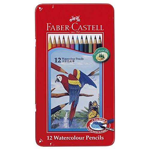 ファーバーカステル 水彩色鉛筆 平缶 12色セットTFC-WCP/12C