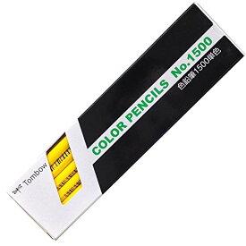 トンボ鉛筆 色鉛筆 1500単色 1500-03 黄色 1ダース