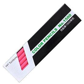 トンボ鉛筆 色鉛筆 1500単色 1500-22 桃色 1ダース