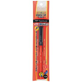 【132円×1セット】トンボ鉛筆 赤鉛筆8900V2本&赤青鉛筆8900VP1本 BSA-360CV キャップ付パック