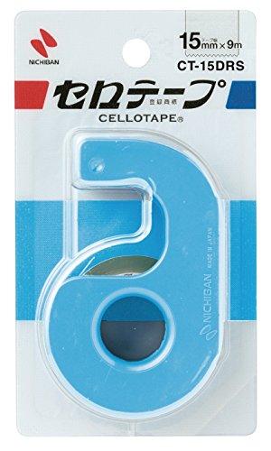 ニチバン セロテープ CT-15DRS 小巻 カッターつき スカイブルー 15mm×9m