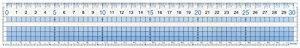 【271円×1セット】レイメイ藤井 定規 見やすい方眼定規 30cm AJH308