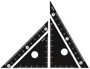 【176円×1セット】レイメイ藤井 定規 見やすい白黒 三角定規 黒 10cm APJ251B