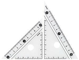 【176円×1セット】レイメイ藤井 定規 見やすい白黒 三角定規 白 10cm APJ251W