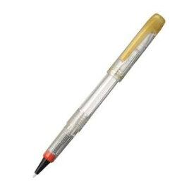 【585円×1セット】【ゆうパケット配送可】プラチナ萬年筆 ソフトペン赤パック 透明軸 STB−800A