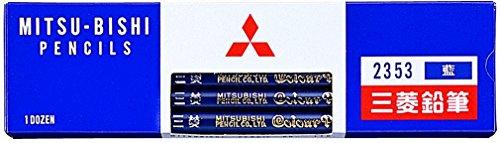 ミツビシ 三菱鉛筆 UNI 色鉛筆 藍通し 藍色 12本入 K2353(10セット)