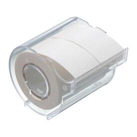 【332円×1セット】ヤマト 付箋 メモックロールテープ 白 25mm×10m カッター付き R-25CH-5