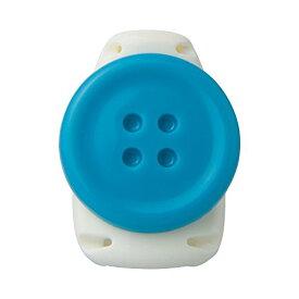 ソニック キッズクリップ ボタン ブルー 服に穴が開かない名札留め(10セット)