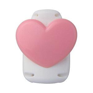 【260円×1セット】ソニック キッズクリップ ハート ピンク 服に穴が開かない名札留め