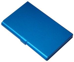 【476円×10セット】アルミカードケース 厚型 ブルー(10セット)