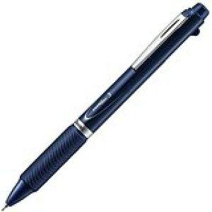 ぺんてる 多色ボールペン エナージェル3色 ダークブルー軸 XBLC35C