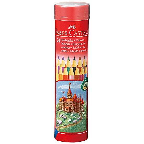 ファーバーカステル 油性色鉛筆 丸缶 24色セット TFC-CPK/24C