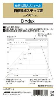 【ゆうパケット配送可】能率システム手帳リフィル仕事の達人リフィール目標達成ステップ表907