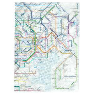 【376円×10セット】東京カートグラフィック 鉄道路線図クリアファイル 首都圏 英語 RFSE (10セット)