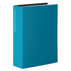 【482円×10セット】セキセイ ポストカードホルダー 高透明 ハガキサイズ120枚 ブルー KP-60P-10 セキセイ 4974214166486(10セット)