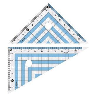 共榮塑料彩色三角尺藍色CPK-120(5套)