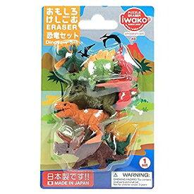 【329円×1セット】イワコー ブリスターケシゴム恐竜セット ER-BRI044