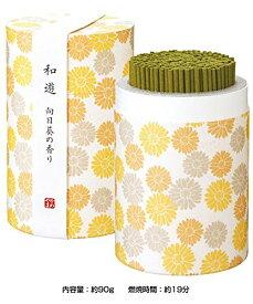 カメヤマローソク 和遊(わゆう) 向日葵の香り 線香 ミニ寸(筒箱) I2012-01-07