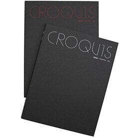 マルマン クロッキーブック大 クリームコットン紙 356×268mm SL2 (レッド、ホワイトうち1色。色はおまかせ)(10セット)