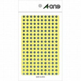 【送料無料・単価241円×70セット】エーワン カラーラベル 銀 丸型 5mm 6シート 07072(70セット)