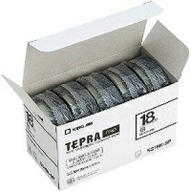 【6513円×24セット】テプラ・プロ テープカートリッジ プロテープエコパック 白ラベル 黒文字 SS18K-5P キングジム 4971660763283(24セット)
