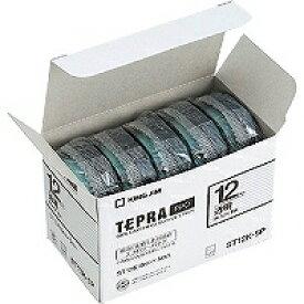 【4721円×24セット】テプラ・プロ テープカートリッジ エコパック5コ入り 透明ラベル 黒文字 ST12K-5P キングジム 4971660763344(24セット)