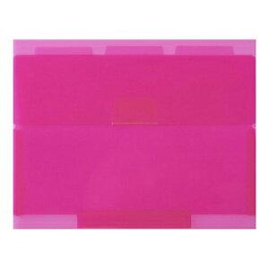 【234円×1セット】セキセイ NE-5435 ネオンワン ルーズリーフケースB5 ピンク