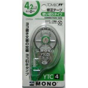 【452円×1セット】【ゆうパケット配送可】トンボ鉛筆 修正テープ MONO YTC4 CT-YTC4