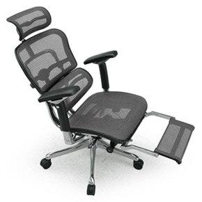 Ergohuman エルゴヒューマンチェア プロ オットマン内蔵 イス 椅子 エラストメリックメッシュ ハイタイプ グレー