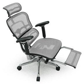 Ergohuman エルゴヒューマンチェア プロ オットマン内蔵 イス 椅子 エラストメリックメッシュ ハイタイプ ホワイト