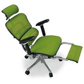 Ergohuman エルゴヒューマンチェア プロ オットマン内蔵 イス 椅子 ファブリックメッシュ ハイタイプ グレー