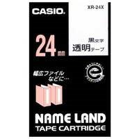 カシオ計算機 透明テープ XR-24X 透明に黒文字 24mm(10セット)