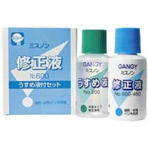 カズキ 修正液ミスノン NO.600 うすめ液付(5セット)