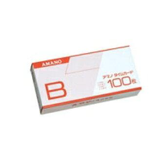아마노 표준 타임카드 B 100장입