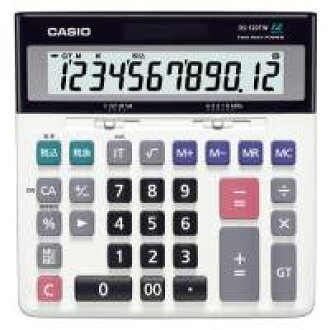 12位数卡西欧计算机特大表示计算器桌子型DS-120TW