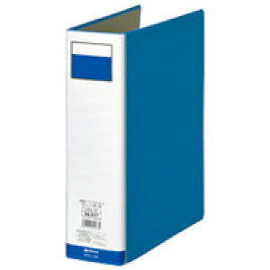 ジョインテックス パイプ式ファイル両開き青1冊 D056J-BL