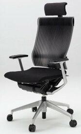 オフィスチェア スピーナチェア ITOKI イトーキ エクストラハイバック エラストマーバック T型肘付 アルミミラー ブラック(5セット)