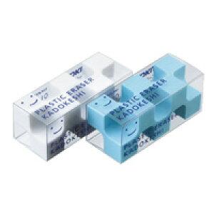 【123円×1セット】KOKUYO(コクヨ)消しゴム<カドケシプチ>鉛筆用ブルー・ホワイト2色セットケシ−U750−1