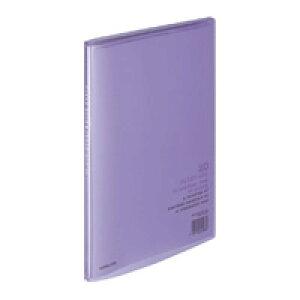 【375円×1セット】KOKUYO(コクヨ)クリヤーブック〈キャリーオール〉(固定式)A4縦20枚ポケット 紫ラ−1V