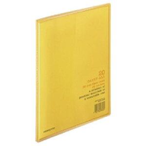 【326円×1セット】KOKUYO(コクヨ)クリヤーブック〈キャリーオール〉(固定式)B5縦20枚ポケット橙ラ−5YR