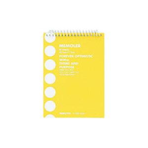 KOKUYO(コクヨ)ポケットメモ<メモラー>スパイラルとじA7普通横罫50枚黄メ−300Y(10セット)