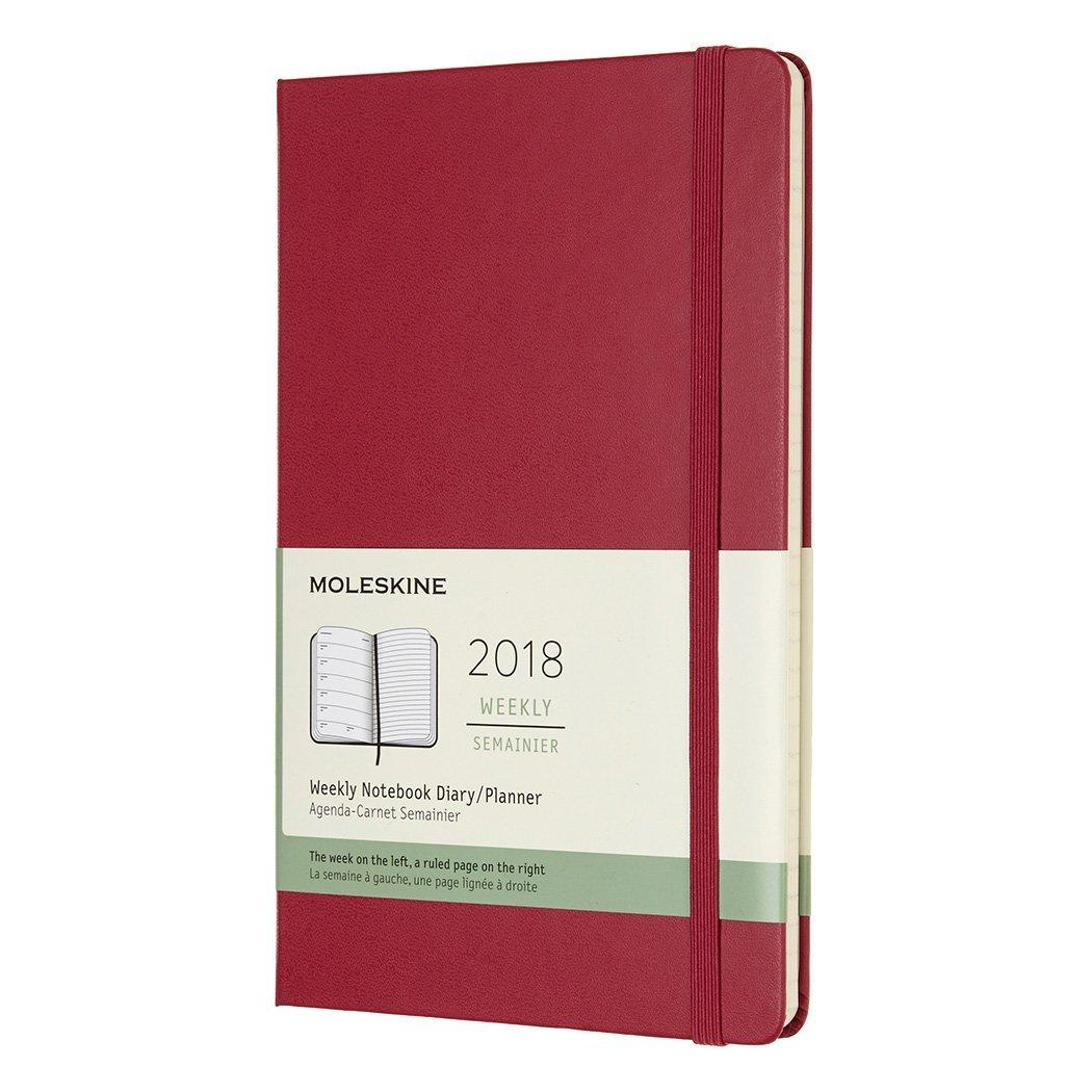モレスキン 手帳 2018年 1月始まり ウィークリー ハード ラージ ベリーローズ DHH1112WN3Y18