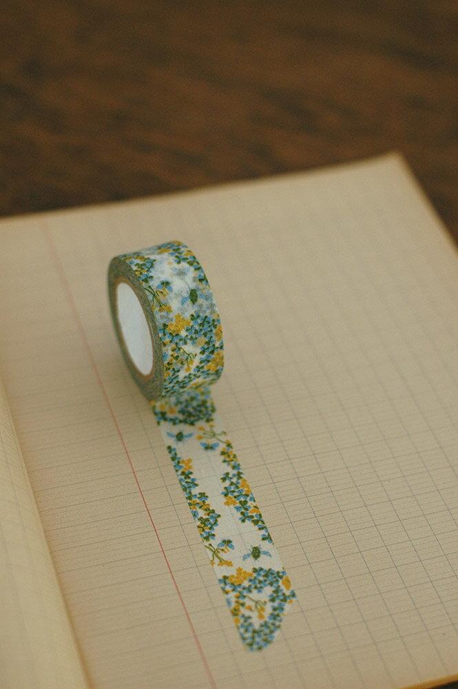 倉敷意匠 カタバミ マスキングテープ 1巻パック (グリーン)