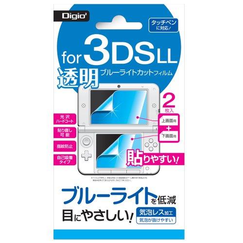 ナカバヤシ ニンテンドー3DS LL専用 液晶保護フィルム 透明ブルーライトカット 気泡レス加工 GAFLL-FLKBK