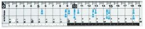 【196円×10セット】クツワ HiLiNE サイズカッター定規 19cm KB015(10セット)