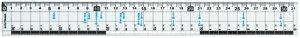 【272円×1セット】クツワ HiLiNE サイズカッター定規 31cm KB016