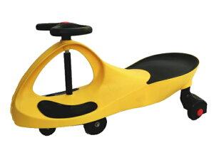 スイングカー 乗用玩具 スィングカー エコカー 乗物 三輪車 のりもの ゴムタイヤ プラスティックタイヤ 2種類ウィール付き おもちゃ 乗り物 黄 イエロー 即納