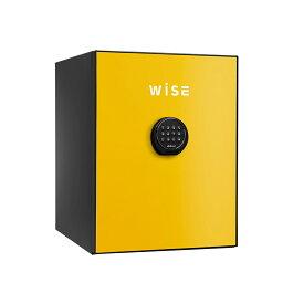 【30日限定ポイント10倍】デジタルテンキー式 デザイン金庫 60分耐火 容量36L イエロー 警報音付 R-WS500ALY