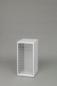 スチールフロアケース SFE-6120 ホワイト【A】 アイリスオーヤマ 小物収納 フロアケース 透明ケース 収納ケース 書類ケース レターケース 引き出し チェスト